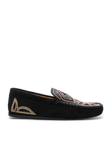 Finha Embroidered Velvet Shoes
