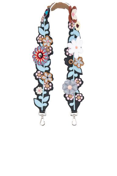 Flower Embellished Bag Strap