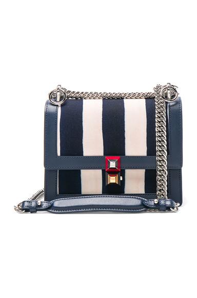 Striped Small Kan l Shoulder Bag