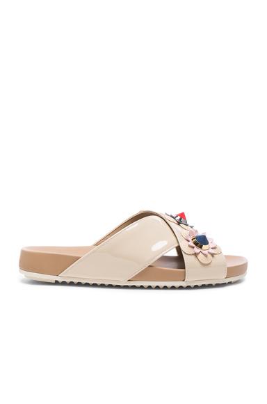 Patent Leather Crisscross Sandals