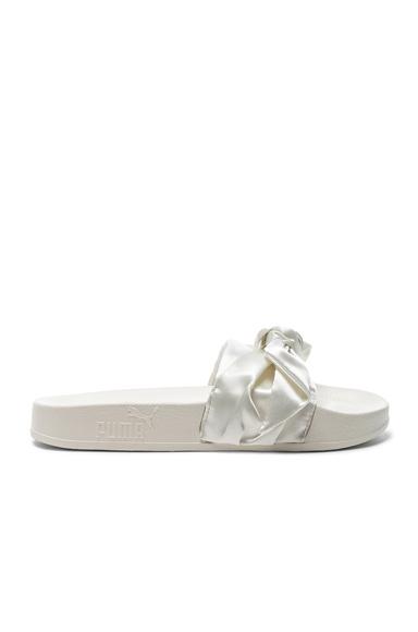 Bow Satin Slide Sandals