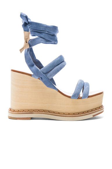 Suede Lily Wedges