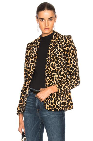 Denim Velvet Cheetah Classic Blazer