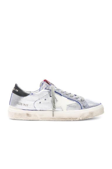 Ribbed Metallic May Sneakers