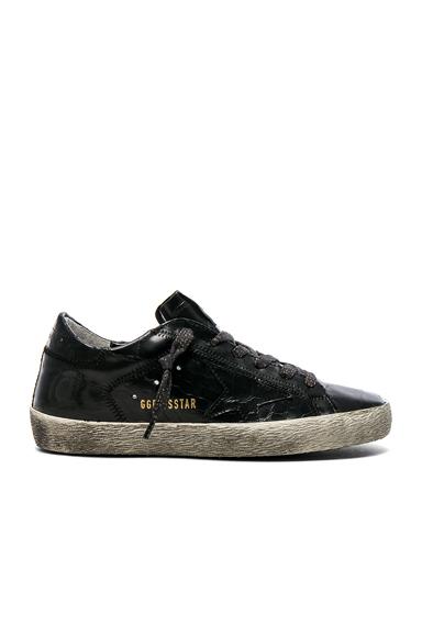 Croc Embossed Leather Superstar Sneakers