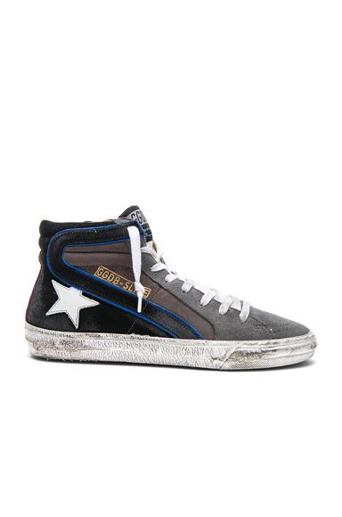 Nubuck Leather Slide Sneakers