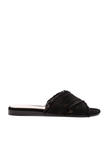 Suede & Satin Barth Flat Sandals
