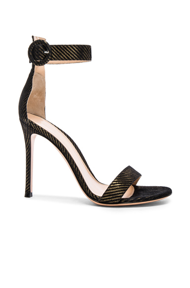 Metallic Pinstripe Portofino Heels