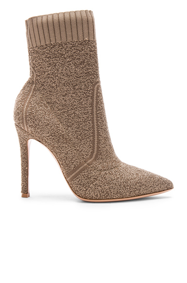 Knit Boucle Katie Ankle Booties