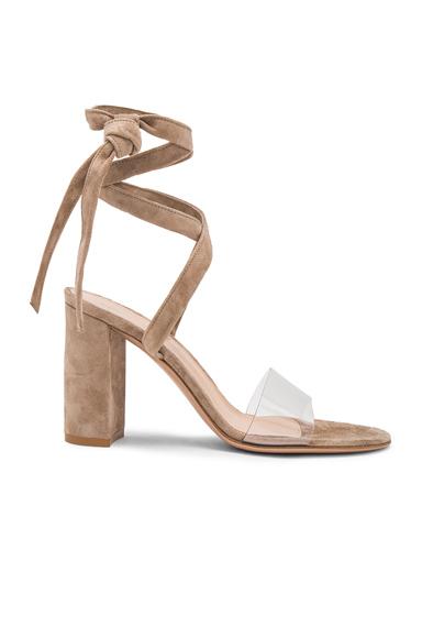Leather & Plexi Strappy Sandals