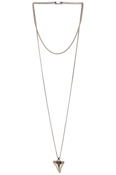 Small Metal Shark Tooth Necklace