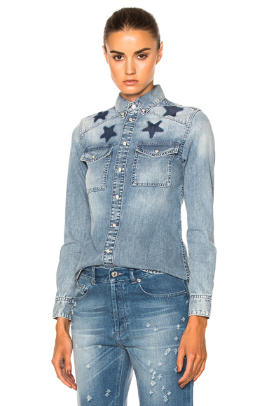 Black Star Denim Shirt