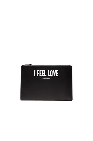 Medium I Feel Love Printed Pouch