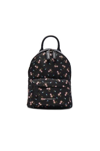 Nano Pink Hibiscus Printed Nylon Backpack
