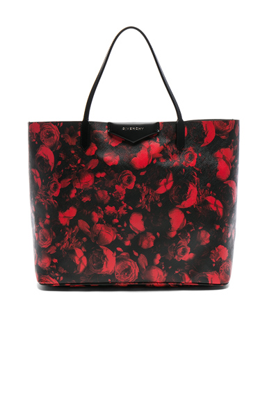 Large Floral Printed Antigona Shopping Bag