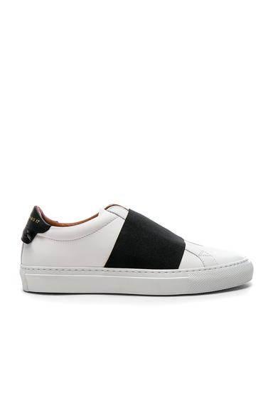 Leather Urban Street Elastic Strap Low Sneakers