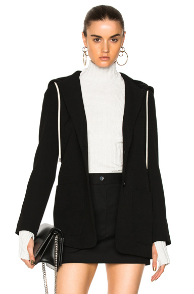 Hooded Blazer Jacket