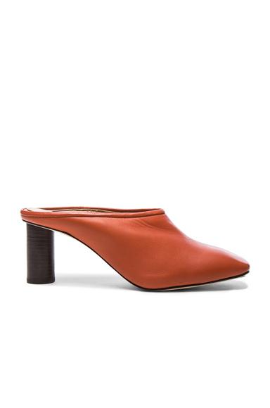 Square Toe Leather Mules