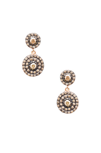 Double Solitaire Earring