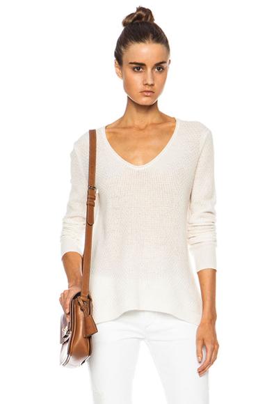 Cashmere Lace V Neck Sweater