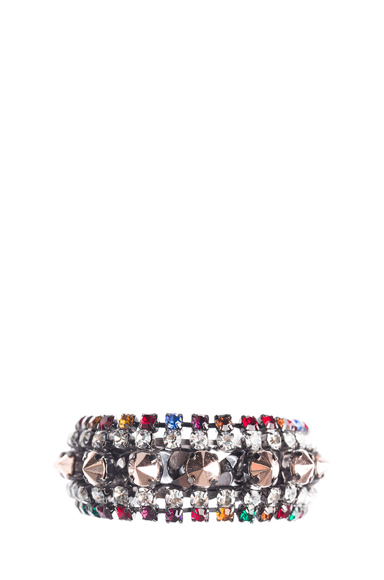 Strass and Studs Simple Bracelet