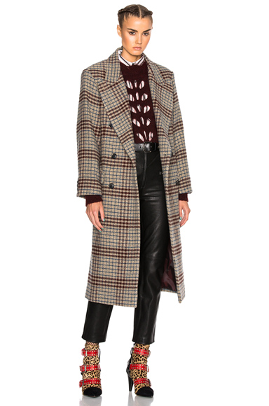 Flint Plaid Coat