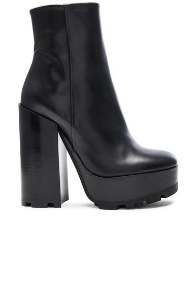 Platform Leather Boots