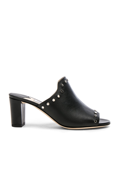 Leather Myla Mules with Studs