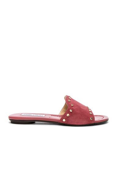 Suede Nanda Flats with Studs