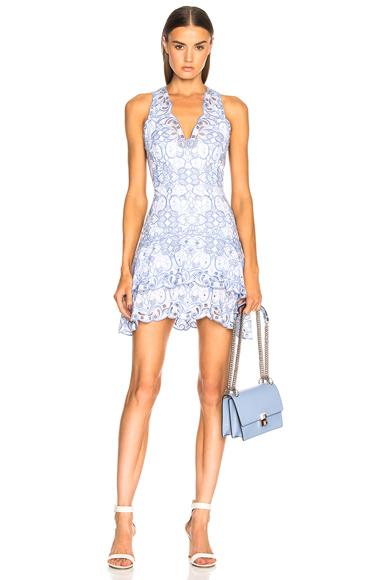 Scallop Tiered Mini Dress