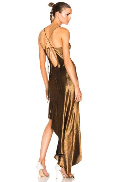 Asymmetrical Lurex Cocktail Dress