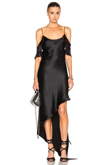 Ruffle Spiral Dress