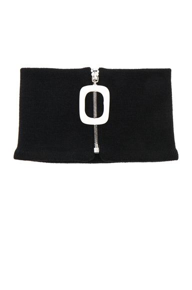Zip Detail Neckband