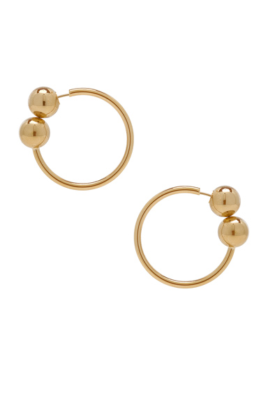 J.W. Anderson Double Ball Hoop Earrings