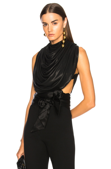 Draped Backless Top