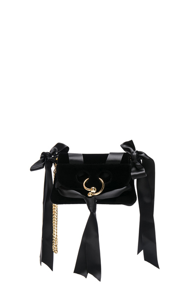 Mini Pierce Velvet Bow Bag