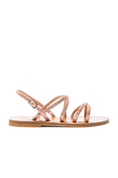 Metallic Suede Batura Sandals