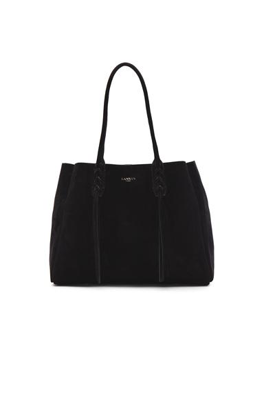 Small Suede Shopper Bag