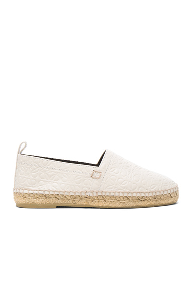 Leather All Over Repeat Espadrilles