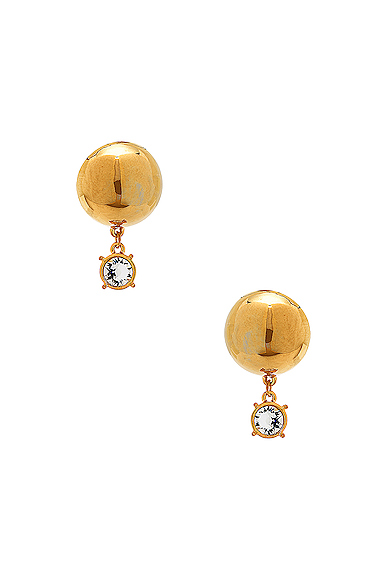 for FWRD Sphere Stud Earrings with Crystal