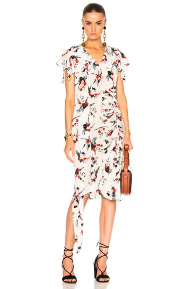 Printed Short Sleeve Dress