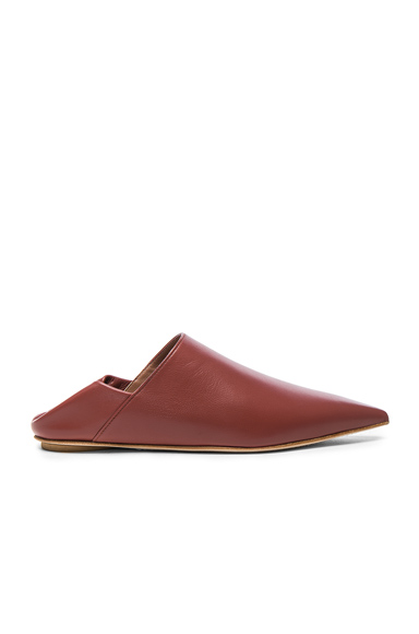 Leather Sabot Mules