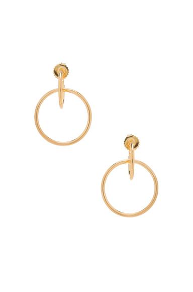 Norma Medi Hoop Earrings