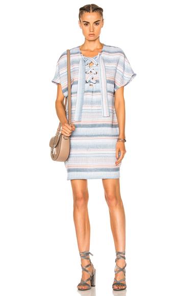 Lace Up Mini Dress