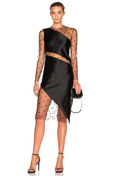 Mesh Slant Dress