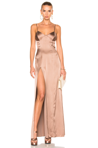 x FWRD Exclusive Bustier Gown