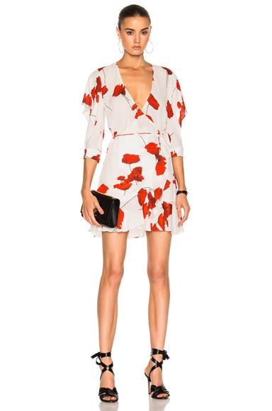Flutter Sleeve Wrap Mini Dress
