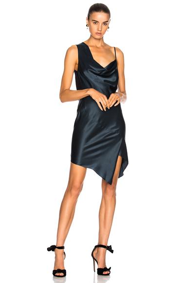 Bias Cowl Neck Dress
