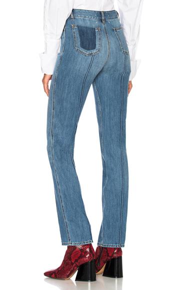 Seamed Straight Leg Jeans