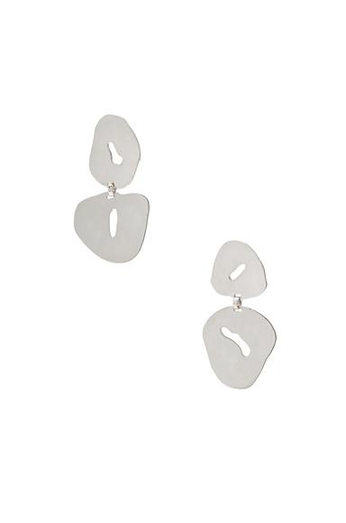 Floating Oval Earrings